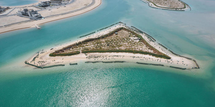Artificial islets and canals at Sabah Al-Ahmad Sea City